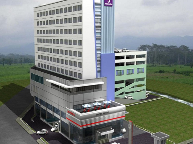 Uniknya! Hotel HARRIS dan Showroom Honda Prisma dibangun Vertikal